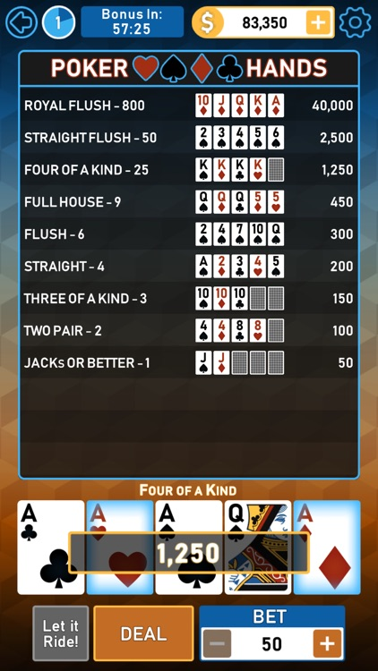 Video Poker Multi Bonus screenshot-7