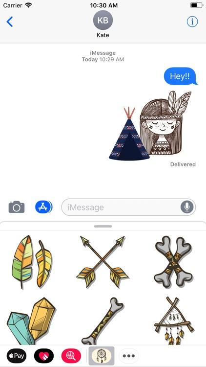 Boho Ornaments Spirit Stickers
