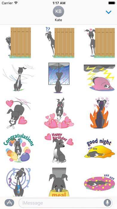 Italian Greyhound Dog Stickers screenshot 2