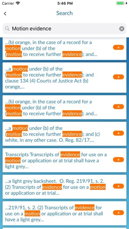 Ontario Court Rules screenshot-3
