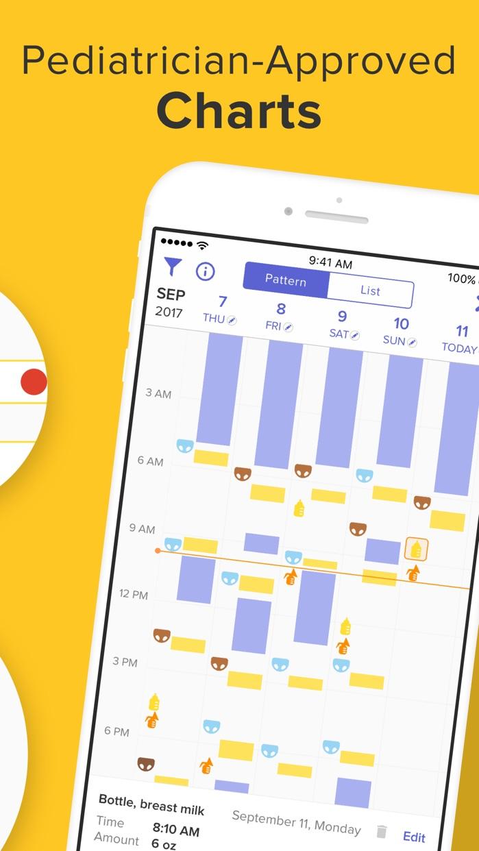 Glow Baby Newborn Tracker App Screenshot