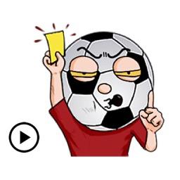 Boys Love Soccer Emoji Sticker
