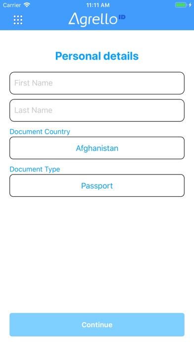 Screenshot of Agrello ID App