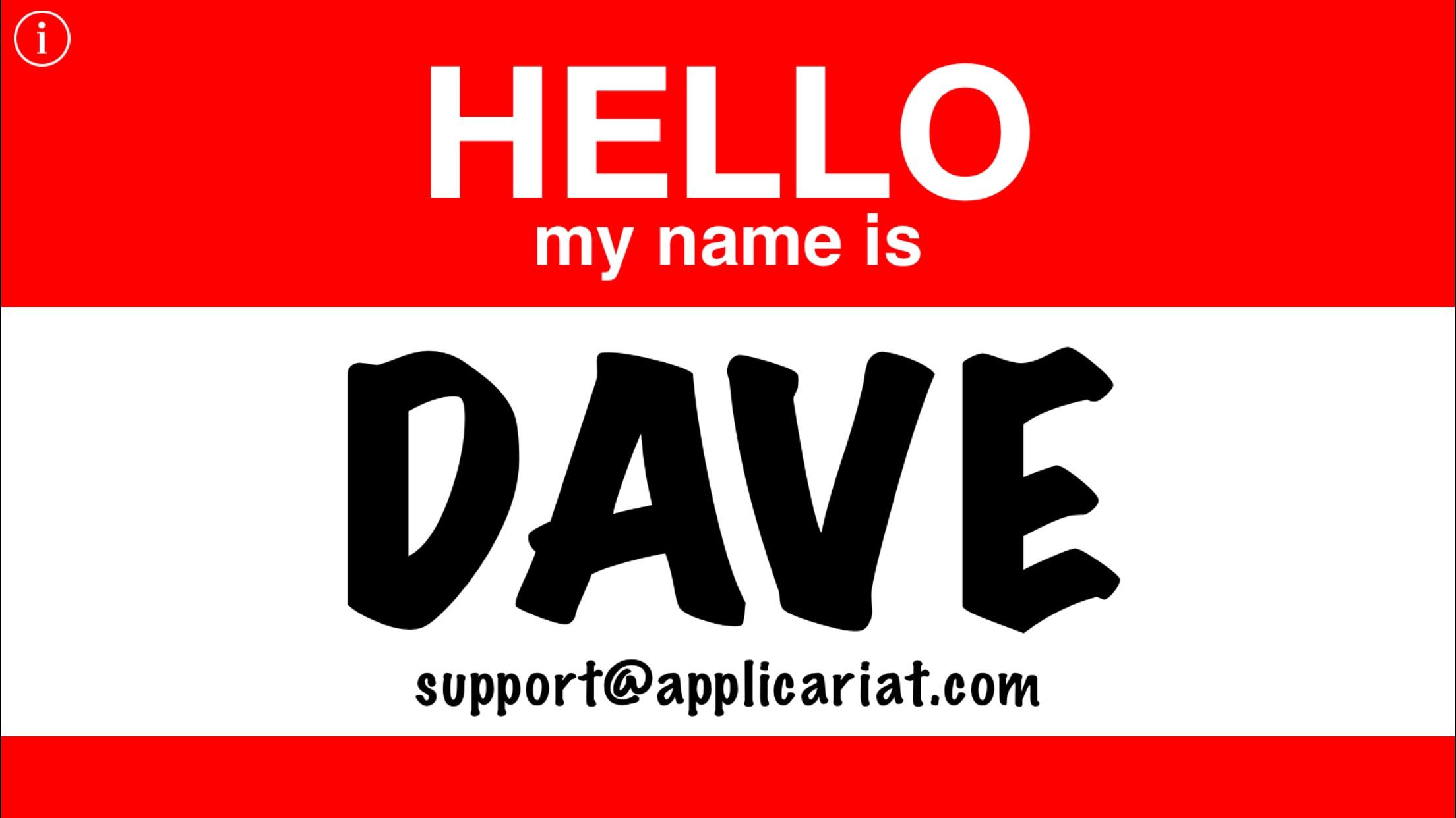 Hello Name Tag Screenshot