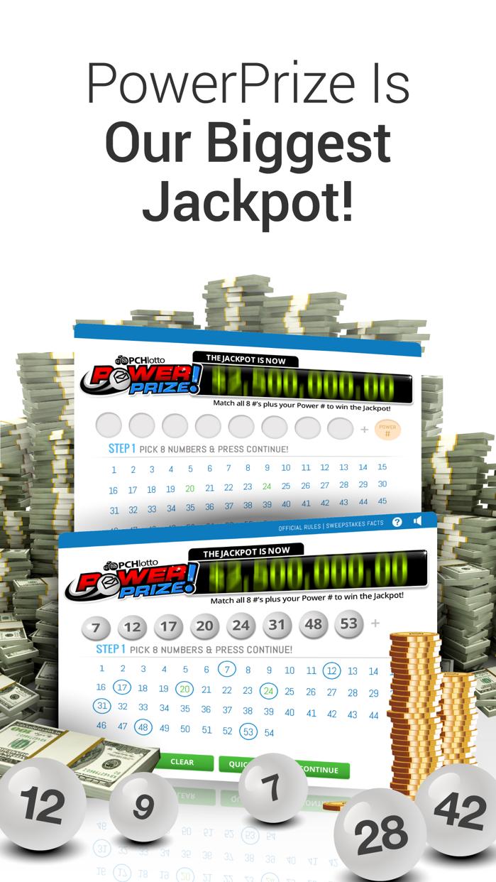 PCH Lotto - Real Cash Jackpots Screenshot