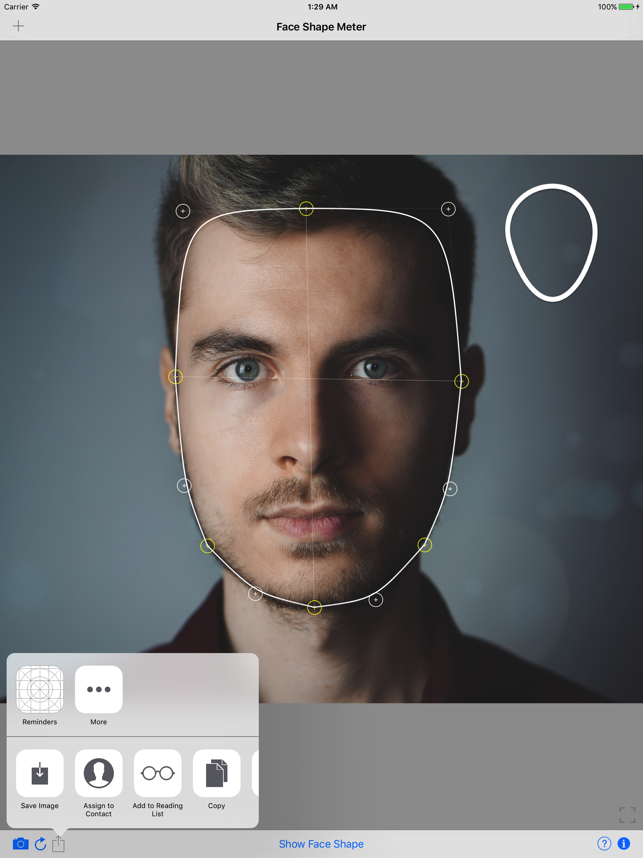 Face Shape Meter Detector App On The App Store