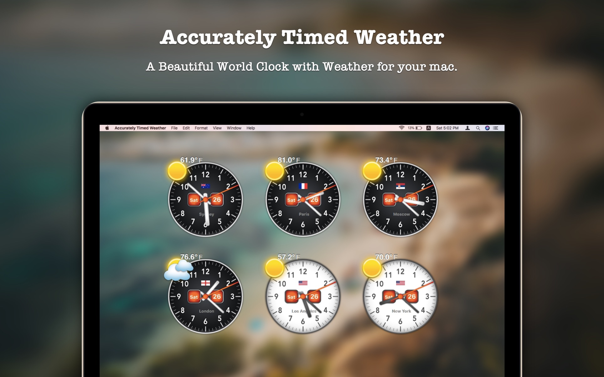 Accurately Timed Weather