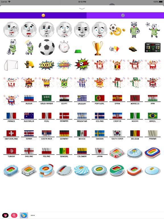 Футбол Emoji наклейки Скриншоты7