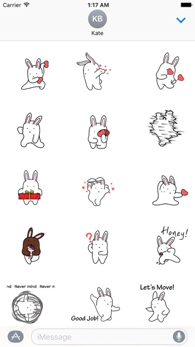 Animated Dancing Bunny Sticker screenshot 1