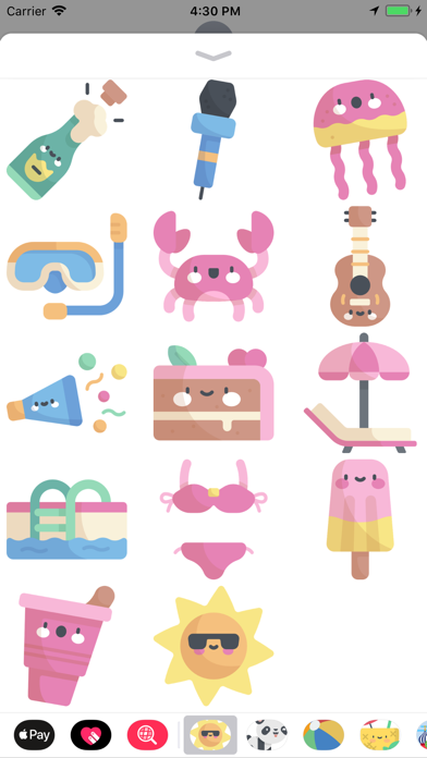 Cool Summer Party Stickers screenshot four