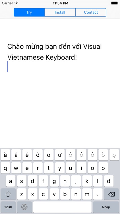 Visual Vietnamese Keyboard