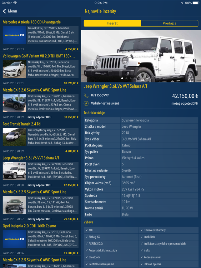 ‎Autobazar.EU Screenshot