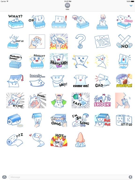 Tissue And Toilet Pape Sticker screenshot 4