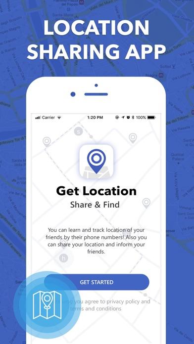 Get Location - Share a... Screenshot