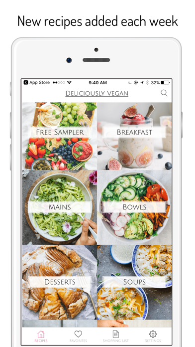 Deliciously Vegan Recipes Screenshot