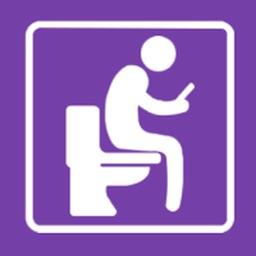 Flush toilet finder map by jruston apps for Best bathroom finder app
