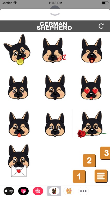 German Shepherd Emojis. screenshot-3