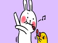 Rabbit and Chicks Animated