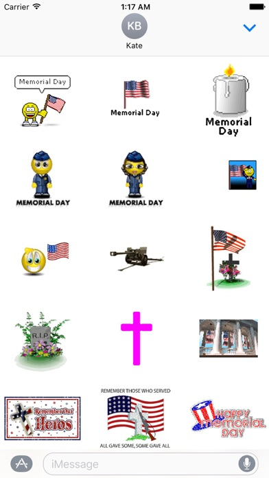 Animated Memorial Day Emoji screenshot 1