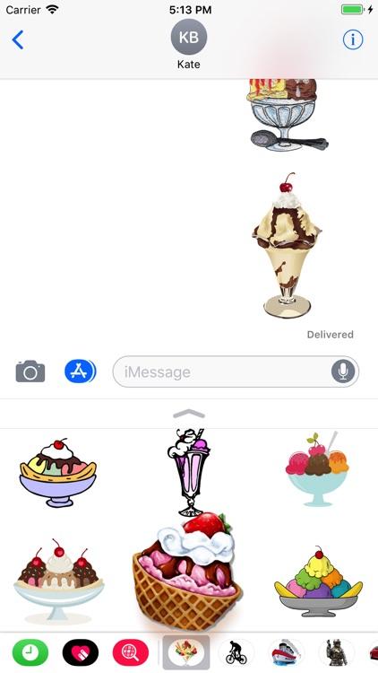 Ice Cream Stickers 4 iMessage