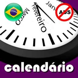 Calendário 2019 Brasil AdFree