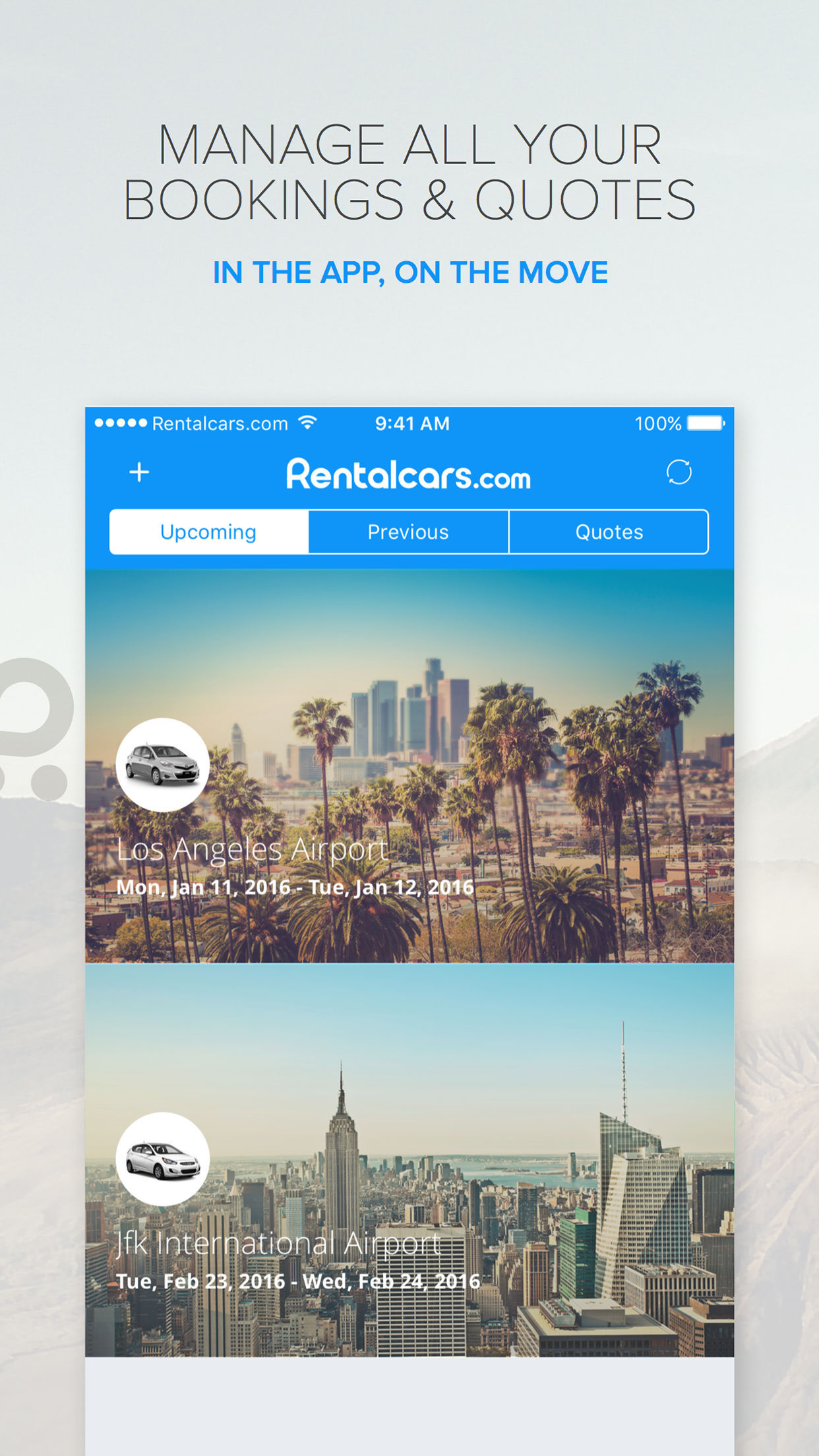 Rentalcars.com Car rental App Screenshot