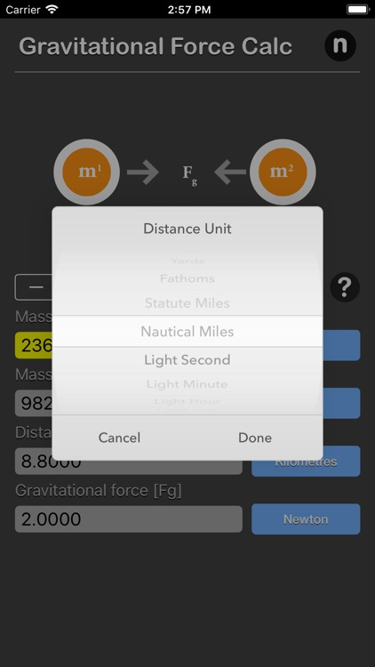 Gravitational Force Calculator screenshot-5