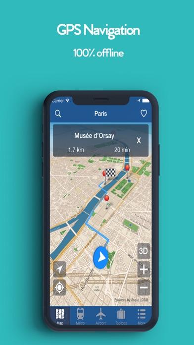 パリオフライン地図 - シティメトロエアポートのおすすめ画像2