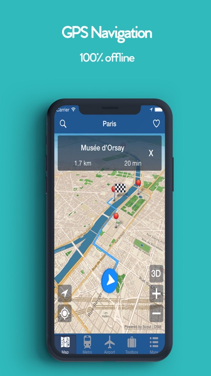 Paris Offline Map, Metro Air screenshot-1