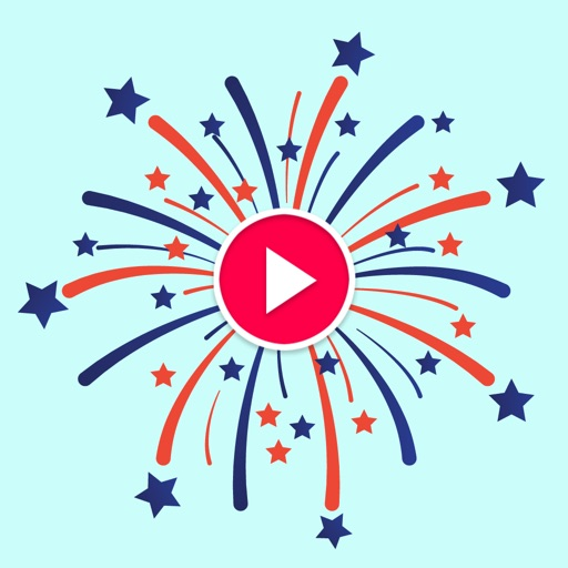 Animated Fireworks Sticker