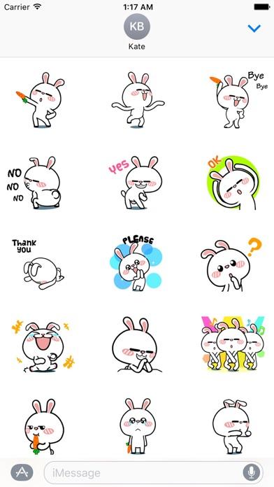 Animated Happy Rabbit Sticker screenshot 1