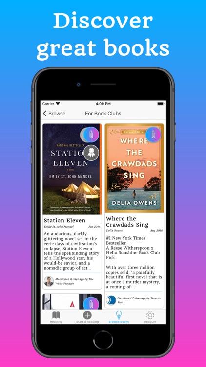 Bookship - A Virtual Book Club