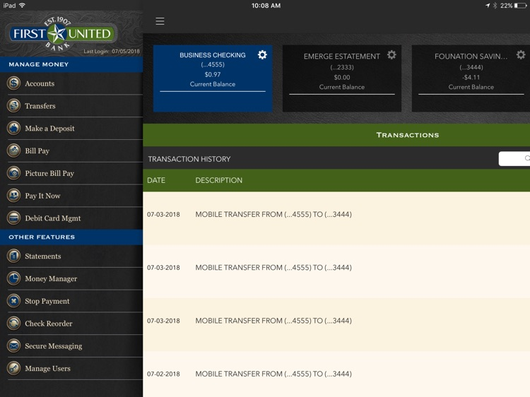 First United Bank for iPad