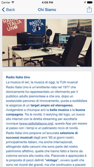 Radio Italia Uno screenshot two