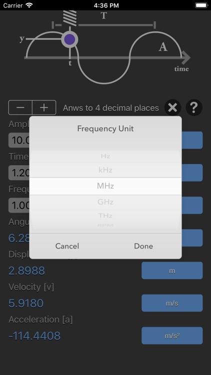Simple Harmonic Motion Calc screenshot-4