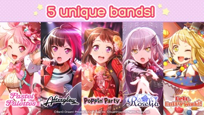BanG Dream! Girls Band Party! Скриншоты6