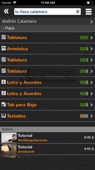 Screenshot for Letras y Acordes de Guitarra in Chile App Store