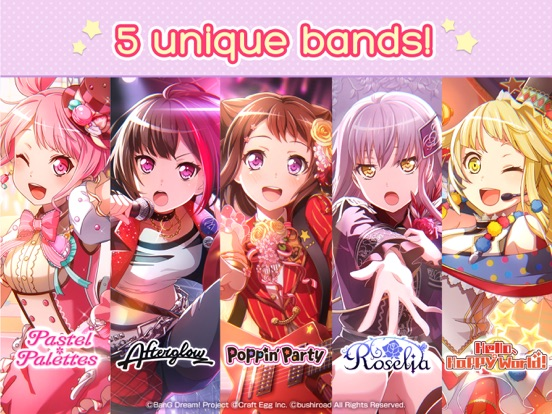 BanG Dream! Girls Band Party! Скриншоты9