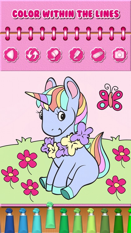 Pony Unicorn Coloring Book