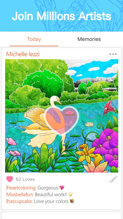 Colorfly : Coloring Book Screenshot on iOS
