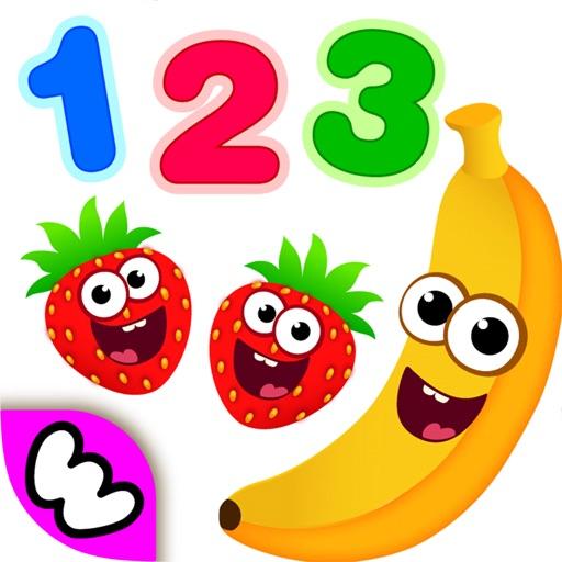 趣味食物3:婴幼儿园宝宝学数字少儿童游戏教育2-5岁