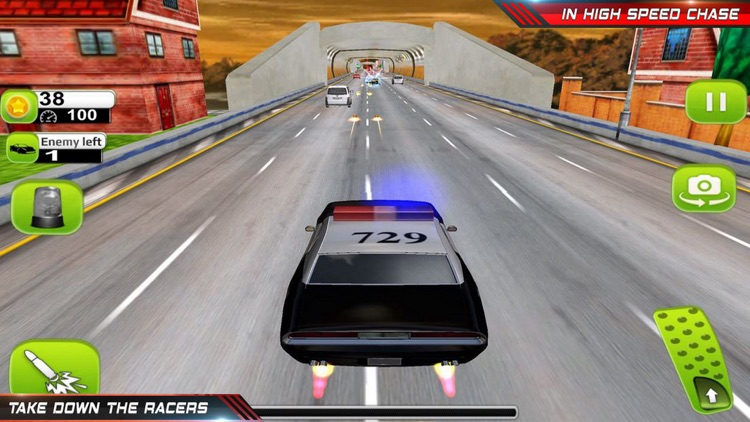 Police Chase Crime: Racing Car