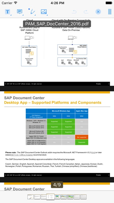 SAP Document Centerのスクリーンショット5
