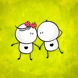 Love Couple Cute Sticker