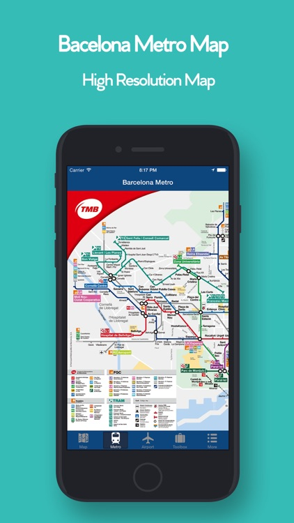 Barcelona Offline Map,Metro screenshot-2