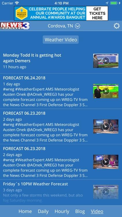WREG Memphis Weather screenshot-4