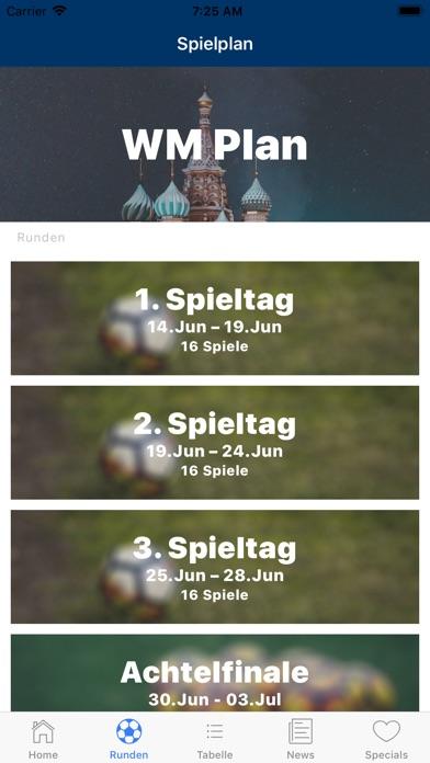 WM Plan - Die WM Spielplan App Screenshots