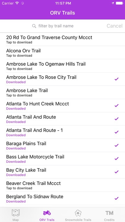 Michigan Offroad Trail Map