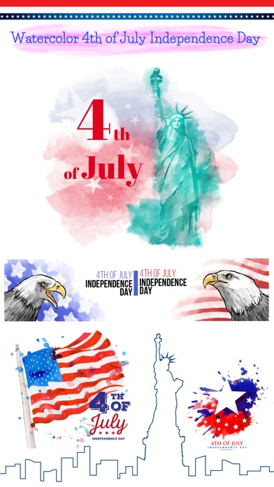 4th of July - Watercolor Pack screenshot 1