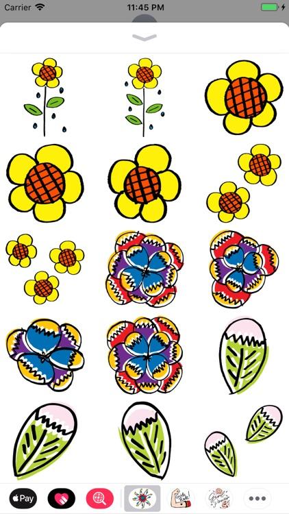 Hand Drawn Flower Collection screenshot-4
